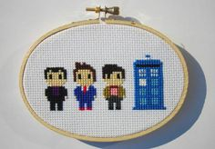 Doctor Who 9, 10, 11 cross-stitch