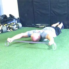 Prone shoulder rotation with band