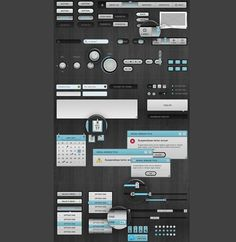 "XOO Plate :: GMUI - Slix UI Web App Kit PSD - ""Slix UI"" controls is a set made to make Web & App designers' lives much easier. Easy to modify for apps and web."