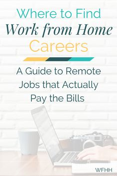 Online side hustles are great but what if you need something more than that? No problem! You can find real work from home careers -- ones that offer stability and actually pay the bills each month. Work From Home Careers, Home Based Jobs, Work From Home Opportunities, Work From Home Tips, Home Jobs, Business Opportunities, Earn Money From Home, Way To Make Money, Make Money Online