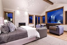 Everything about this Aspen, CO bedroom is warm, cozy, and peaceful.