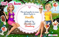 #Didyouknow? It's ice cream time! ***  #Game's link: http://www.girlgames4u.com/bffs-summer-makeover-game.html ✿ ✿ ✿