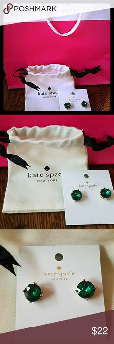 Kate Spade Gum Drop Earrings Kate Spade Gum Drop Earrings  Color- emerald  NWT and dustbag kate spade Jewelry Earrings