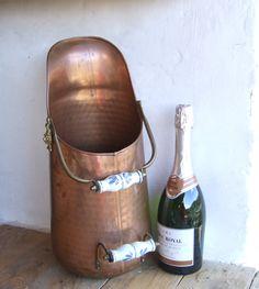 Copper Coal Scuttle // Antique French Umbrella stand // Antique French Coal Scuttle - pinned by pin4etsy.com