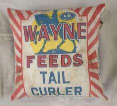 RoughNest Wayne Feeds Tail Curler Vintage Bag Decorative Pillow