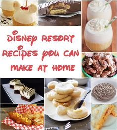 """21 Disney Parks Recipes You Can Make At Home - including those yummy cinnamon glazed almonds, the Dole Whip, and the """"Grey Stuff""""! Disney World Restaurants, Comida Disney, Disney Inspired Food, Yummy Treats, Yummy Food, Food Park, Disneyland Food, Pub, World Recipes"""