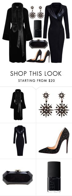 """black magic"" by esha2232 ❤ liked on Polyvore featuring Elizabeth and James, Christian Louboutin, Chanel and NARS Cosmetics"