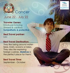 #Zodiac #Cancer is #cautious, #shy and for #more – read on the #Travel #Personality of #Cancer: