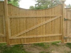 This cedar fence was made from our 1x4 fence slats along with our 2x4 rails and 4x4 posts. Pretty creative and unique.