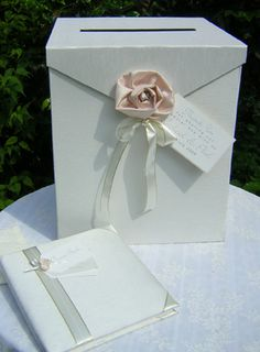wedding post box with champagne rose  wedding post box / wishing well   Theres a whole lot of creative fun you could have with your gift table...