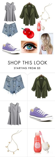 """""""Drew-Undertale"""" by thelittlefanthatcould ❤ liked on Polyvore featuring Converse and London Road"""
