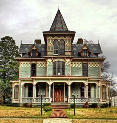 Victorian Home - Max Hoffman, 1882 - I love the pattern on the roofing and walls. This looks like it is haunted, doesn't it?
