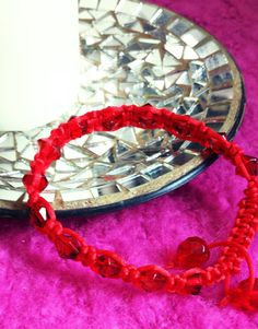 Hey, I found this really awesome Etsy listing at https://www.etsy.com/listing/182318923/red-satin-cord-macrame-friendship