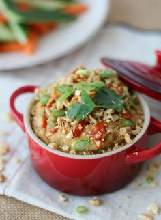 I share a one week high protein vegan meal plan filled with healthy plant based recipes that provide around 1700 calories and 100 grams of protein. Healthy Appetizers, Appetizer Recipes, Healthy Snacks, Healthy Recipes, Free Recipes, Thai Peanut Hummus, Hummus Recipe, Hummus Dip, Vinaigrette