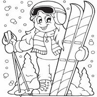 Extreme Skiing Coloring Page | Mona's spare time ...