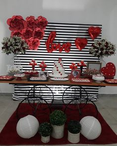 Interesting Diy Valentines Day Decor Ideas That Will Make Your Home Look Cute & Romantic — Home Design Ideas - DIY & Craft Red Party Decorations, Backdrop Decorations, Valentines Day Decorations, Birthday Decorations, Valentine Backdrop, Deco Buffet, Romantic Surprise, Valentines Day Party, Diy Valentine