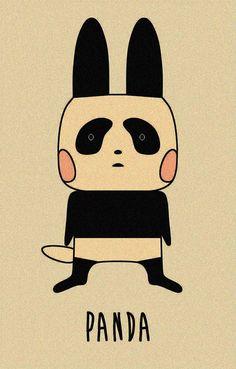 Conejita panda.