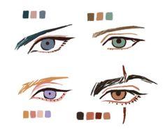 """study of the boys' eyes just for fun"" Eye Drawing Tutorials, Digital Painting Tutorials, Digital Art Tutorial, Drawing Techniques, Art Tutorials, Drawing Reference Poses, Drawing Poses, Anatomy Drawing, Eye Art"