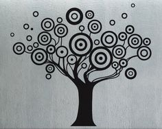 Modern Abstract Tree  uBer Decals Wall Decal Vinyl by uBerDecals