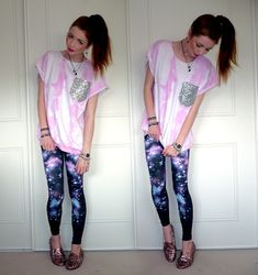 LEGGINGS ARE MADE OF THE FABRIC OF THE FUTURE.... HENCE I WANT MORE GALAXY PANTS IN THE FUTURE