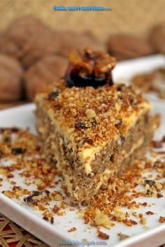 mennyei diótorta lisztmentes Torte Cake, Healthy Sweets, Gluten Free Desserts, Diy Food, Cake Cookies, Cake Recipes, Deserts, Food Porn, Food And Drink