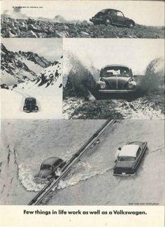 Publicidad de DDB para VW USA. Década de 1960
