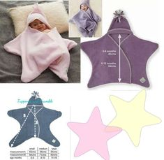 Sewing and learning: little baby star. Pattern and tutorial - Diy Kids Crafts Sewing Tutorials, Sewing Projects, Sewing Patterns, Knitting Patterns, Knitting Stitches, Crochet Patterns, Baby Outfits, Sewing For Kids, Baby Sewing
