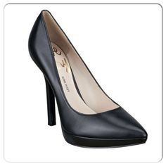 "Nine West Love Fury pump Black leather. platform pump. 4-1/2"" heel. 3/4"" platform. Pointed toe. Never worn Nine West Shoes"