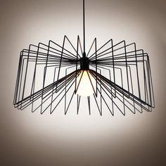 Rustic Single Light Intricate Pendant Black/White Spider Chandelier Ceiling Lamp #Generic #Modern
