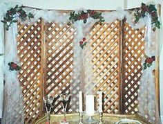 wood wedding backdrop for the ceremony - Google Search