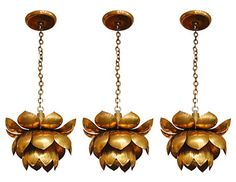 brass lotus light fixtures