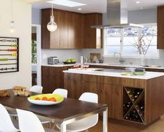 1950s Style Kitchens With Ornamental Leaves