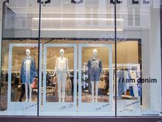 "ZARA,Amsterdam, The Netherlands, ""I am Mirian, I am Lisa, I am Denim"", photo by Beekwilder, pinned by Ton van der Veer"