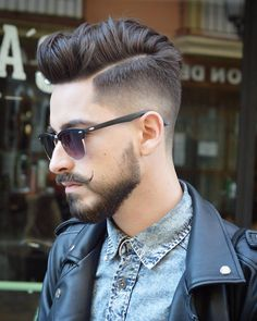 Our experts picked the best comb over fade haircut styles currently trending. From a low fade comb over to a high fade comb over, these comb over haircut styles are hot. Comb Over Fade Haircut, Fade Haircut Styles, Beard Styles, Short Haircut, Mid Fade Undercut, Beard Haircut, Disconnected Undercut, Undercut Pompadour, Men Undercut