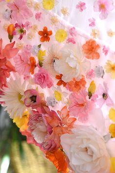 diy floral curtains | designlovefest