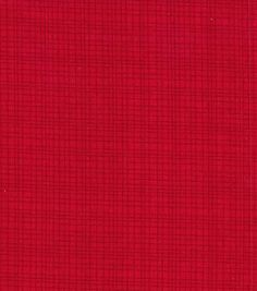 Keepsake Calico Fabric- Grid Red Blender