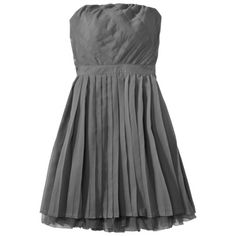 Xhilaration® Juniors Strapless Pleated Chiffon Dress - Assorted Colors.Opens in a new window