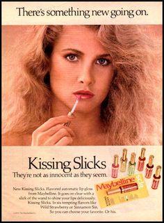 Image detail for -1980 vintage ad for Maybelline Kissing Slicks -798 | eBay