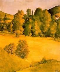 xiuxiueig: Paisatge Montserrat Gudiol i Coromines( Barcelona Spanish Painters, Spanish Artists, Picasso Blue, Montserrat, City Landscape, Gothic Art, Paris, Moorish, Western Art