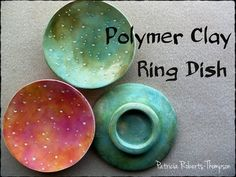 In this video, I use white Premo Clay and Pan Pastels to make a pretty little ring dish. I used a glass candle holder as a form, a large round cutter, a 2 1/...