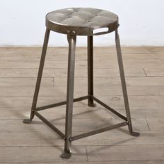 Metal Stackable Tufted Stool (India) | Overstock.com Shopping - Top Rated Bar Stools