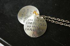 You are my sunshine locket style necklace by lovemorethananything