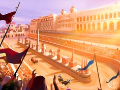 Roman chariot race in the Circus Maximus