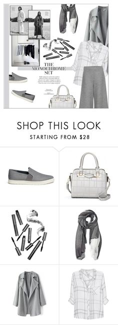 """""""Make It Monochrome"""" by meyli-meyli ❤ liked on Polyvore featuring Vince, Bobbi Brown Cosmetics, Furla, Rails, The Row and monochrome"""