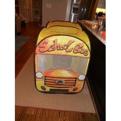 School bus tent $29.99 Amazon prime - a great Christmas morning surprise - room for 2-3 toddlers inside