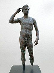 VICTOR. Victorious Youth, Greek, 300-100 B.C.