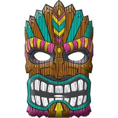 Resultado de imagen de Printable Tiki Mask
