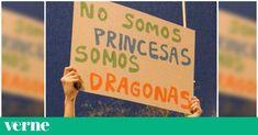 Muchas de las frases compartidas en redes sociales salieron a la calle durante las manifestaciones feministas. Blog, Quotes, Dragon, Woman, Frases, Banners, Feminism, Social Networks, How To Make