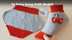Learn how to make this adorable knit baby booties! These crochet kids booties make a heartfelt gift for your newborn niece, nephews and grandchildren. Baby Booties Knitting Pattern, Knit Baby Booties, Knit Boots, Knit Slippers Free Pattern, Easy Knitting, Knitting Stitches, Knitting Patterns, Crochet For Kids, Crochet Baby