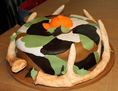 Deer Antlers Grooms cake